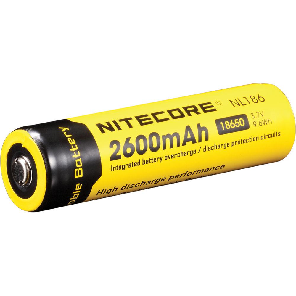 nitecore 18650 li ion rechargeable battery 3 7v 2600mah. Black Bedroom Furniture Sets. Home Design Ideas