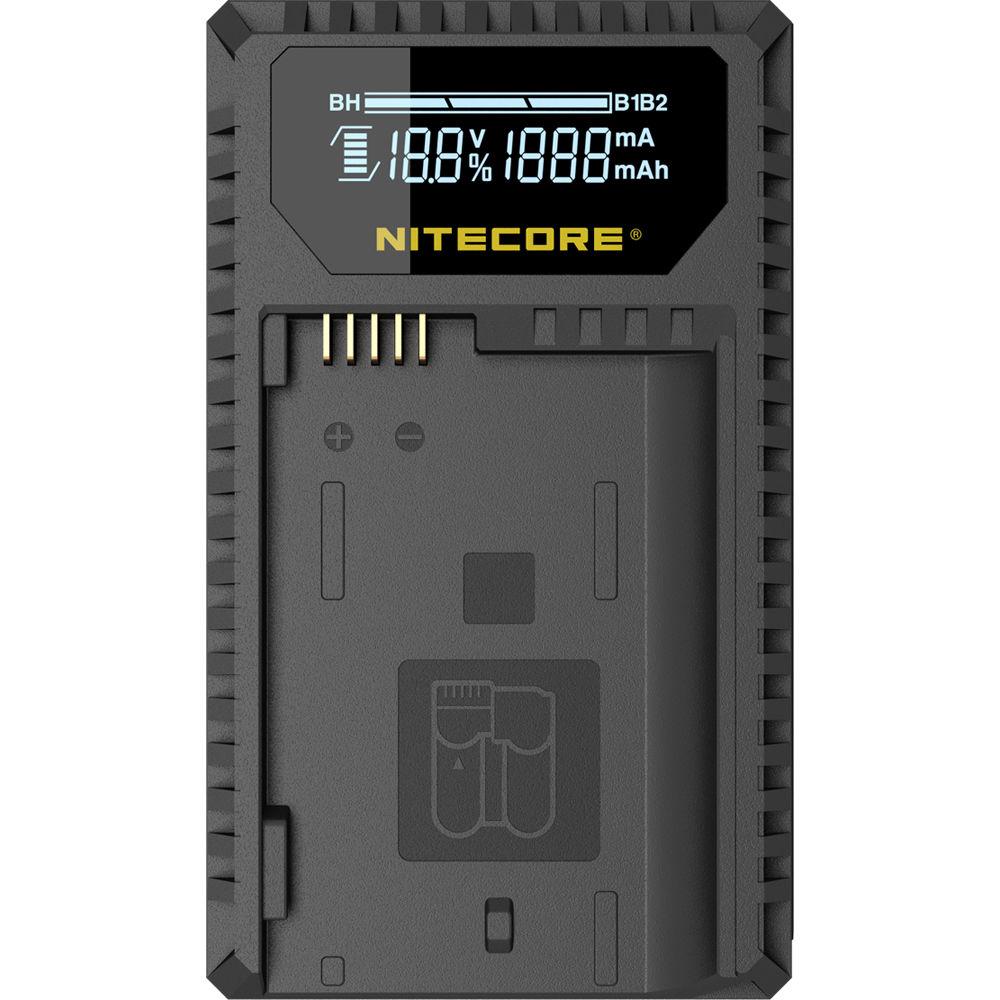 Nitecore Unk1 Dual Slot Usb Travel Charger For Nikon Bh Battery Via The Mini Port On Charging Circuit Or Solar En El14