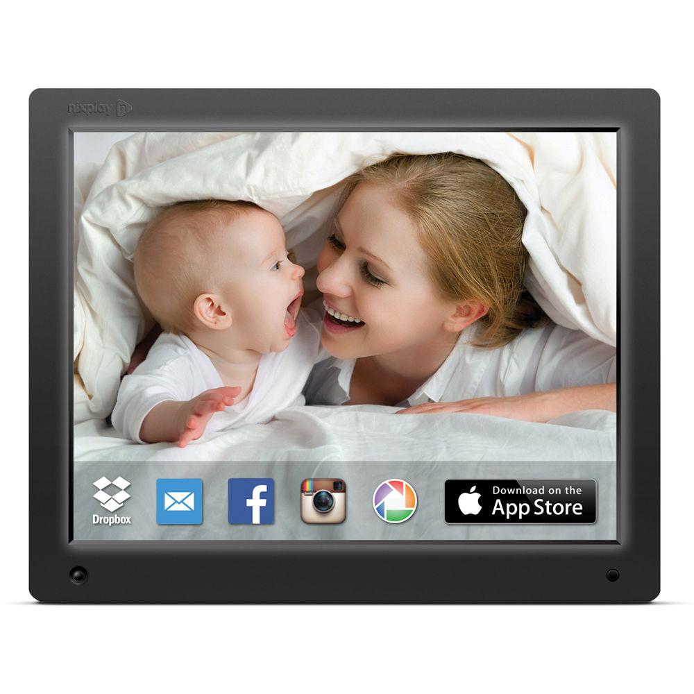 nixplay nixplay Pro Cloud WiFi Digital Picture Frame W12B B&H