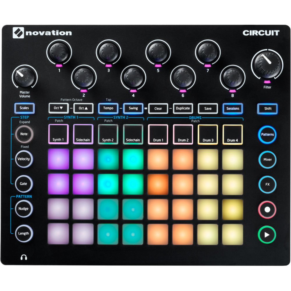 Novation Circuit Groove Box Sample Import Bh Photo Diode Switched Synthesiser