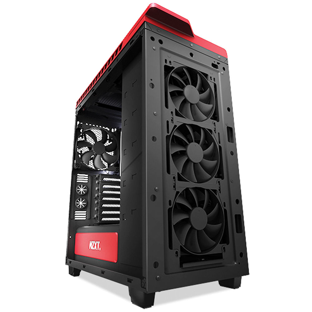 Nzxt H440 Mid Tower Case Matte Black And Gloss Red Ca