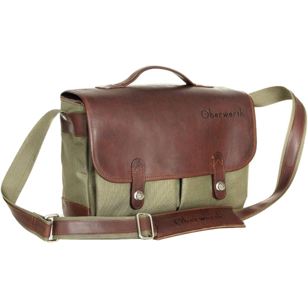 Oberwerth Munchen Large Camera Bag Olive Dark Brown