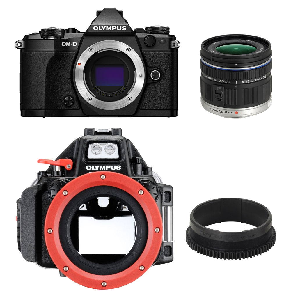 Olympus E M5 Mark II Digital Camera Underwater Bundle With 9 18mm Lens And PT EP13 Housing