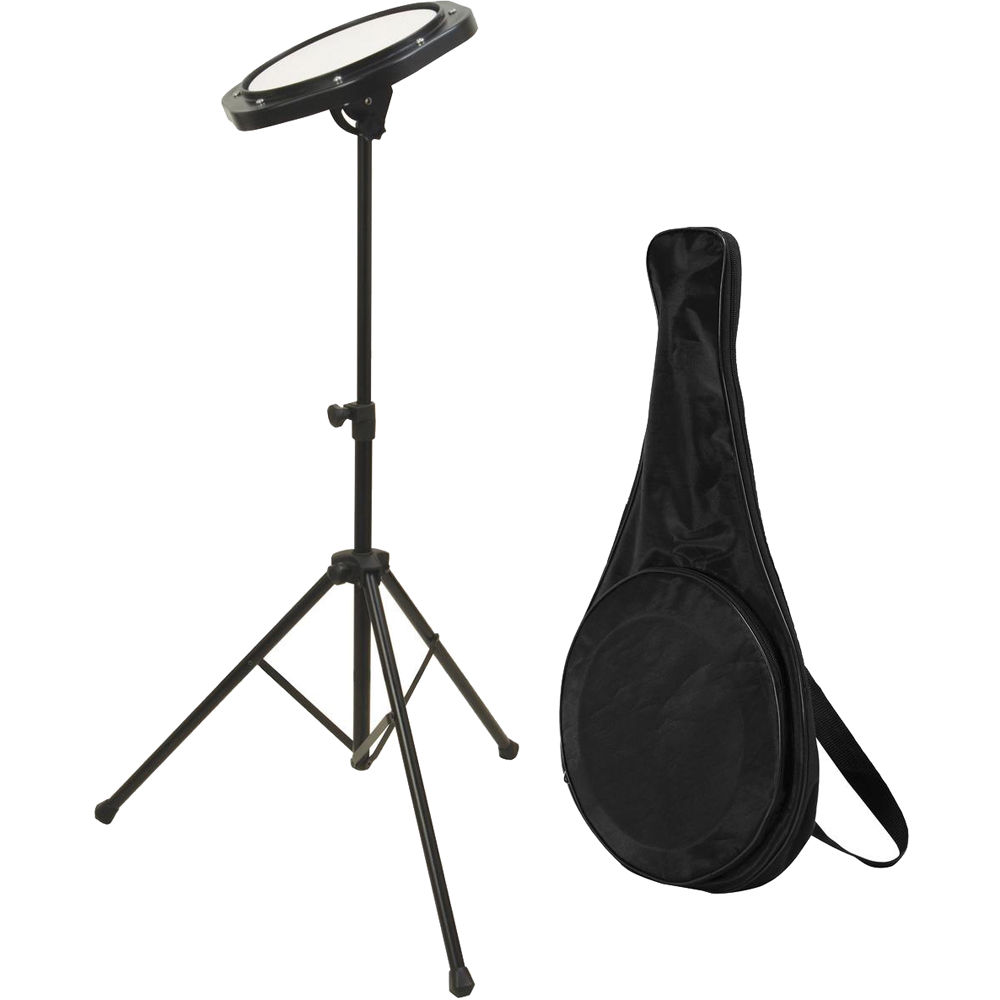 on stage drum practice pad with stand bag dfp5500 b h