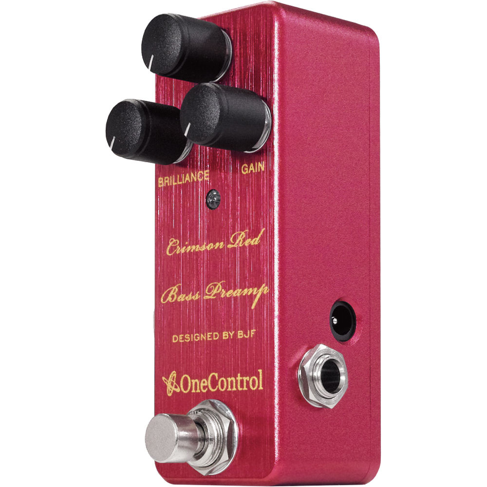 onecontrol crimson red bass preamp pedal crimson red b h photo. Black Bedroom Furniture Sets. Home Design Ideas