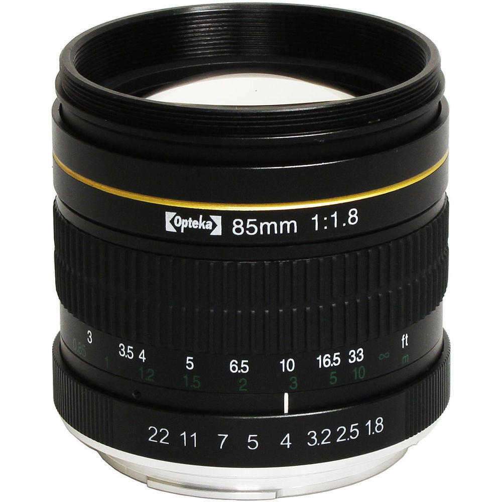 Opteka 85mm f/1.8 Lens for Canon EF OPT85C B&H Photo Video