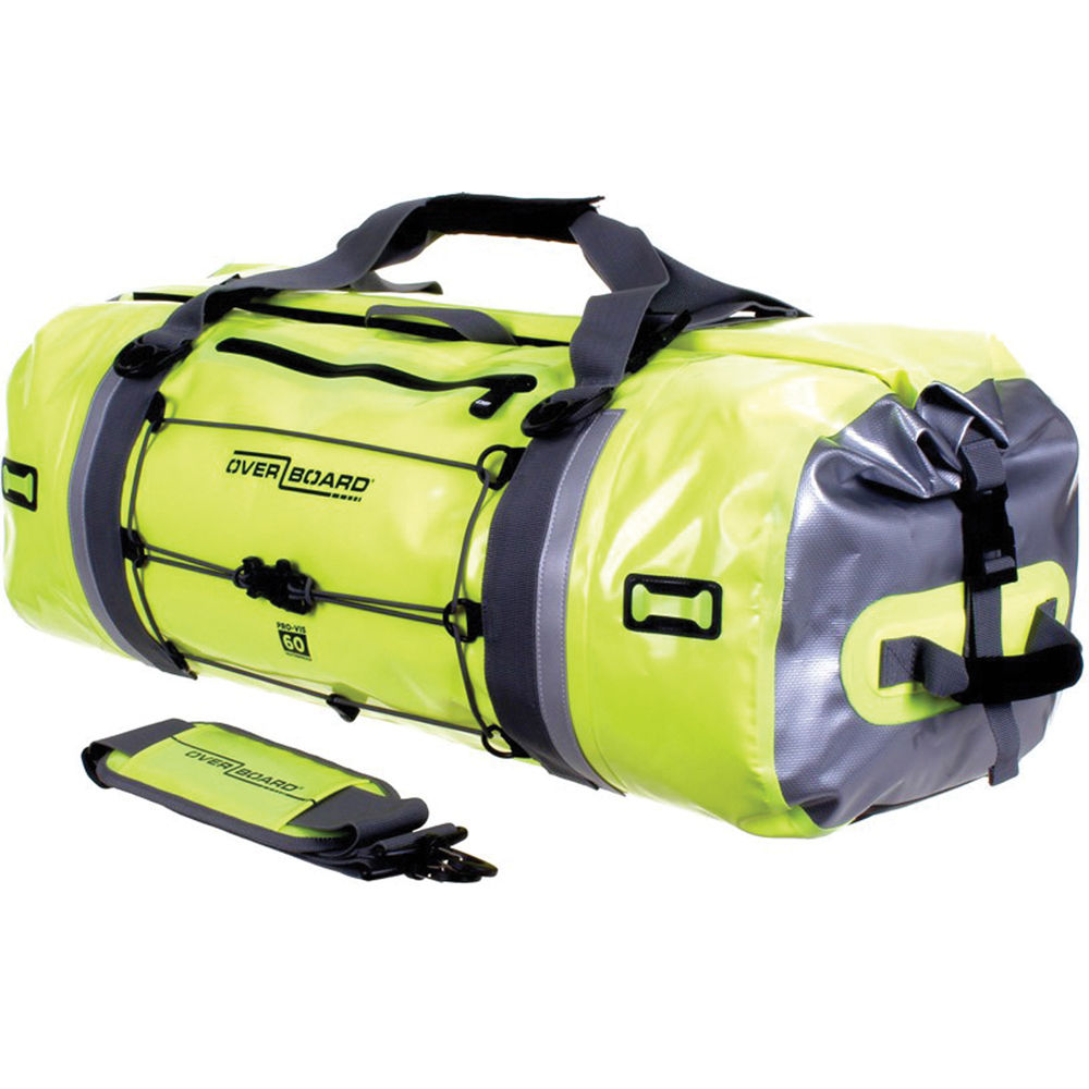 Overboard Pro Vis Waterproof Duffel Bag 60l High Visibility Yellow