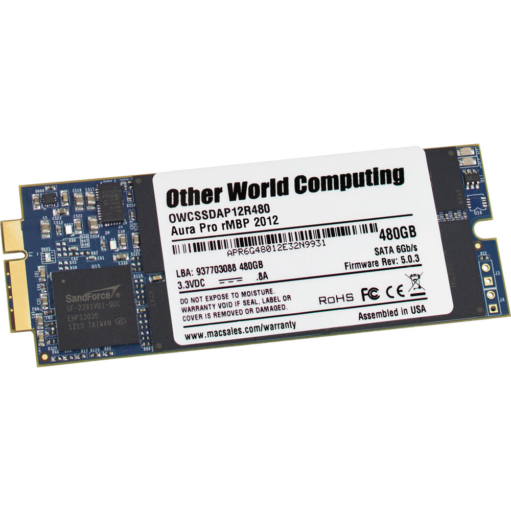 OWC / Other World Computing 480GB Aura Pro 6G SSD OWCSSDAP12R480