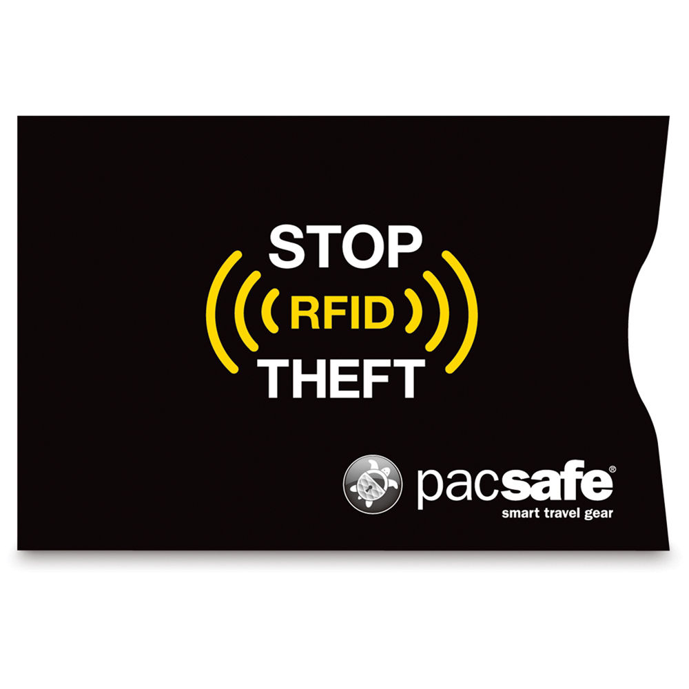 pacsafe rfidsleeve 25 rfid blocking credit card sleeve 10360100