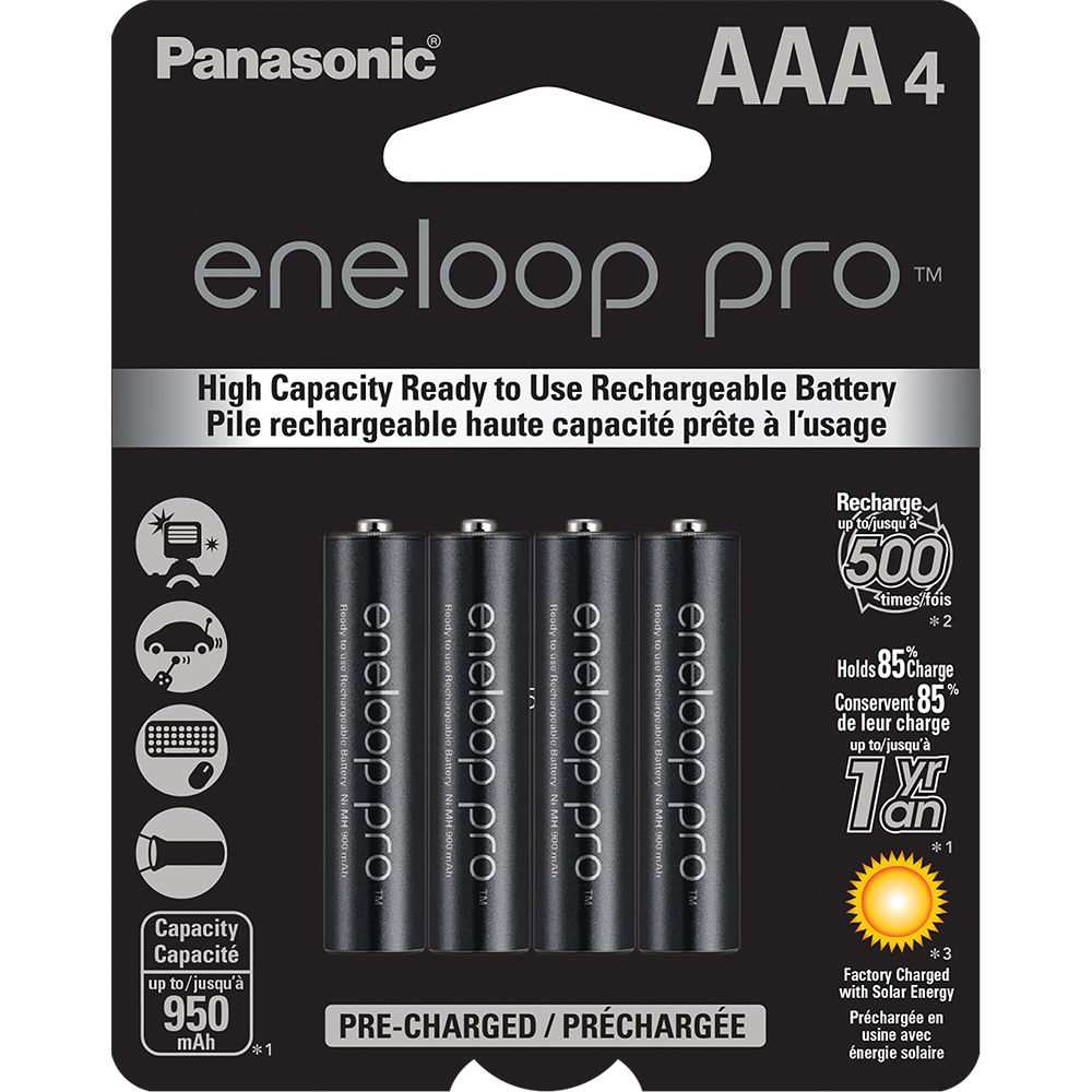 panasonic eneloop pro aaa rechargeable ni mh bk 4hcca4ba b h. Black Bedroom Furniture Sets. Home Design Ideas