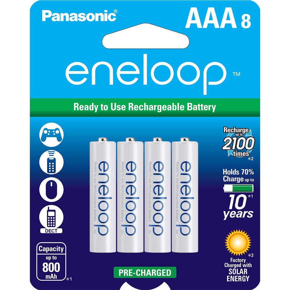 panasonic eneloop aaa rechargeable ni mh batteries bk 4mcca8ba. Black Bedroom Furniture Sets. Home Design Ideas