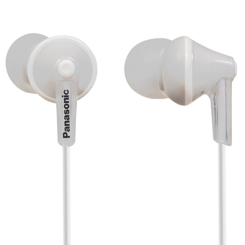 White earbuds gummy - panasonic ergofit in-ear earbuds white