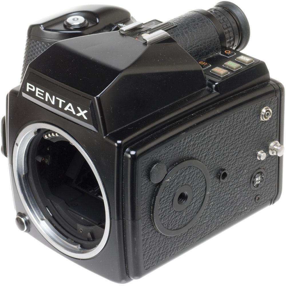 Pentax 645 battery holder - Pentax 645 Medium Format Slr Manual Focus Camera Body With 220 Film Insert No Lens