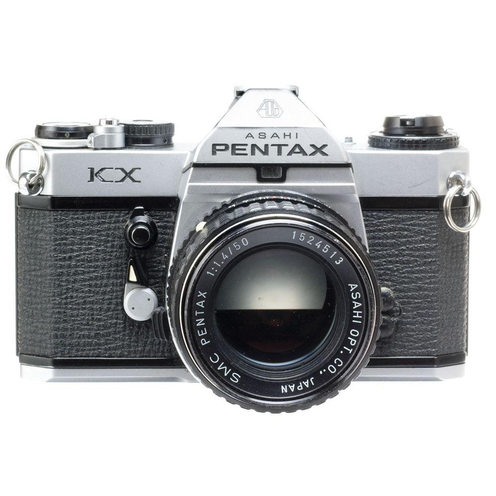 used pentax kx 35mm manual focus camera body chrome with 50mm rh bhphotovideo com DSLR Camera Pentax K X DSLR Camera Pentax K X