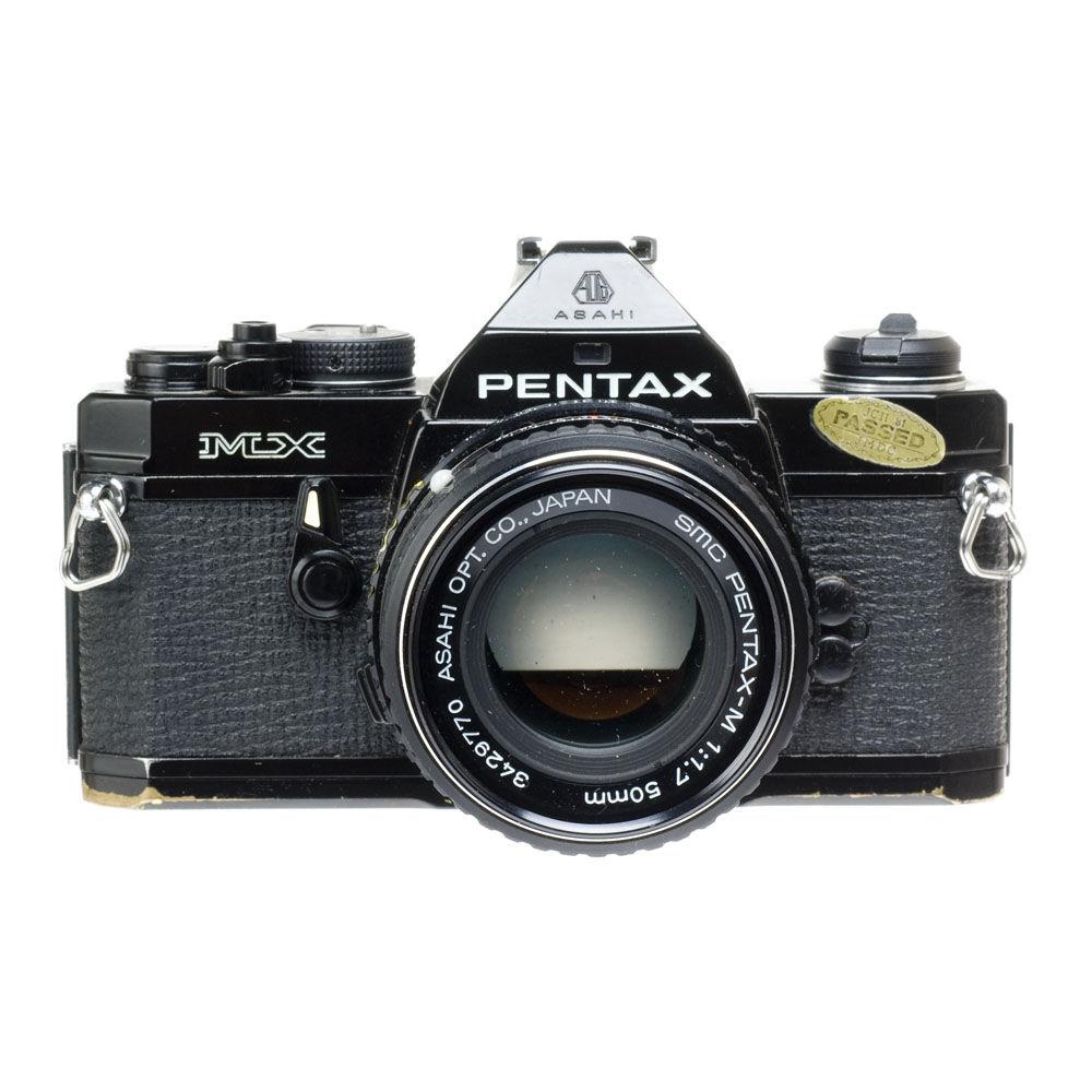 used pentax mx 35mm slr manual focus camera body black b h rh bhphotovideo com asahi pentax mx price Pentax K1000