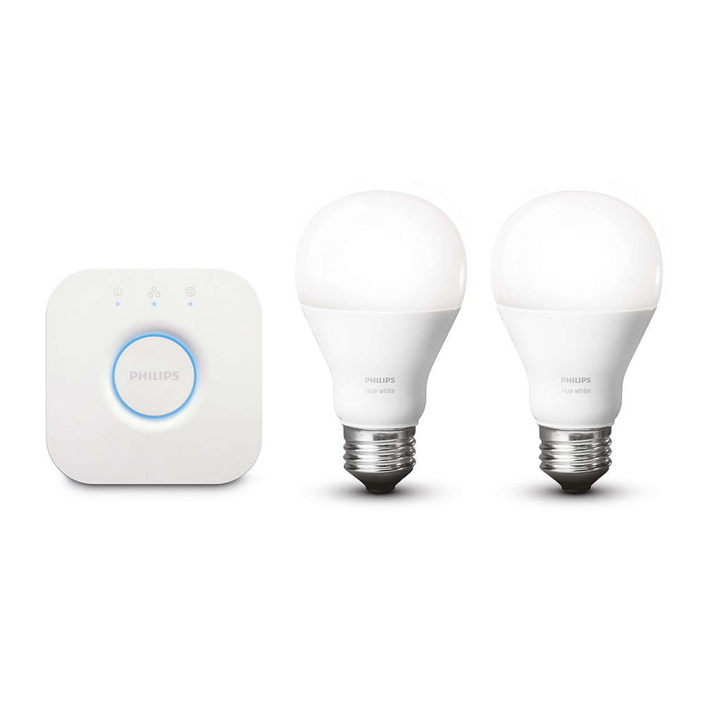 philips hue a19 starter kit warm white 455287 b h photo. Black Bedroom Furniture Sets. Home Design Ideas