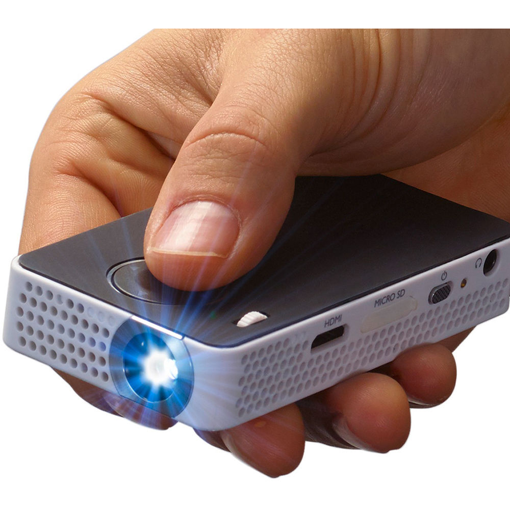 Philips picopix ppx4350 int pocket projector ppx4350 b h photo for Used pocket projector
