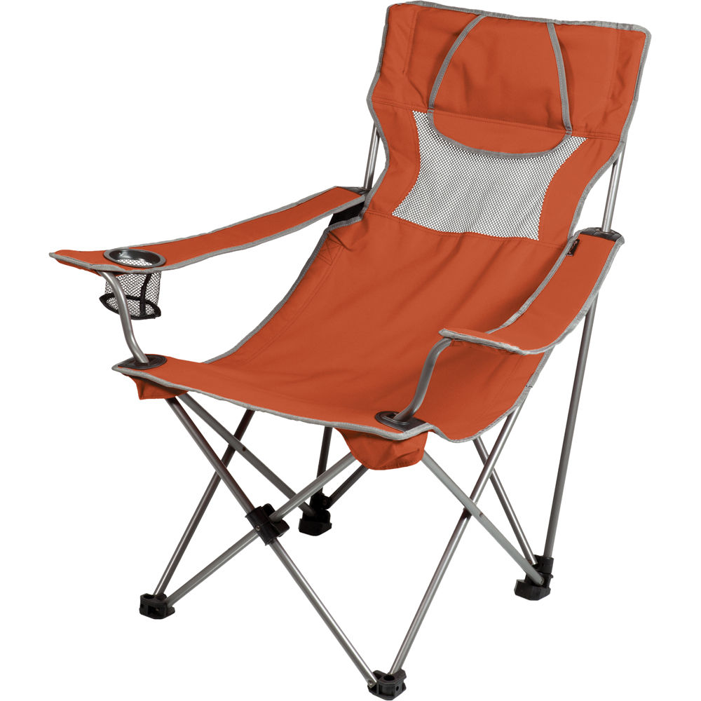 picnic time csite chair burnt orange gray 806 00 103