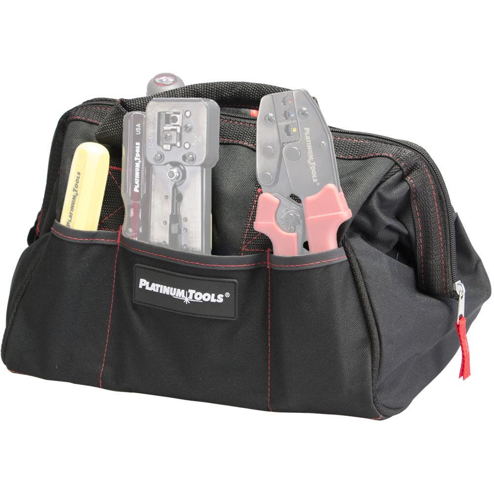platinum tools big tool bag with six storage pockets