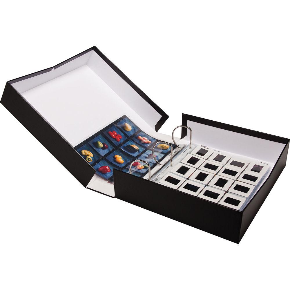 print file 2 5 portfolio box binder black 215 0048 b h