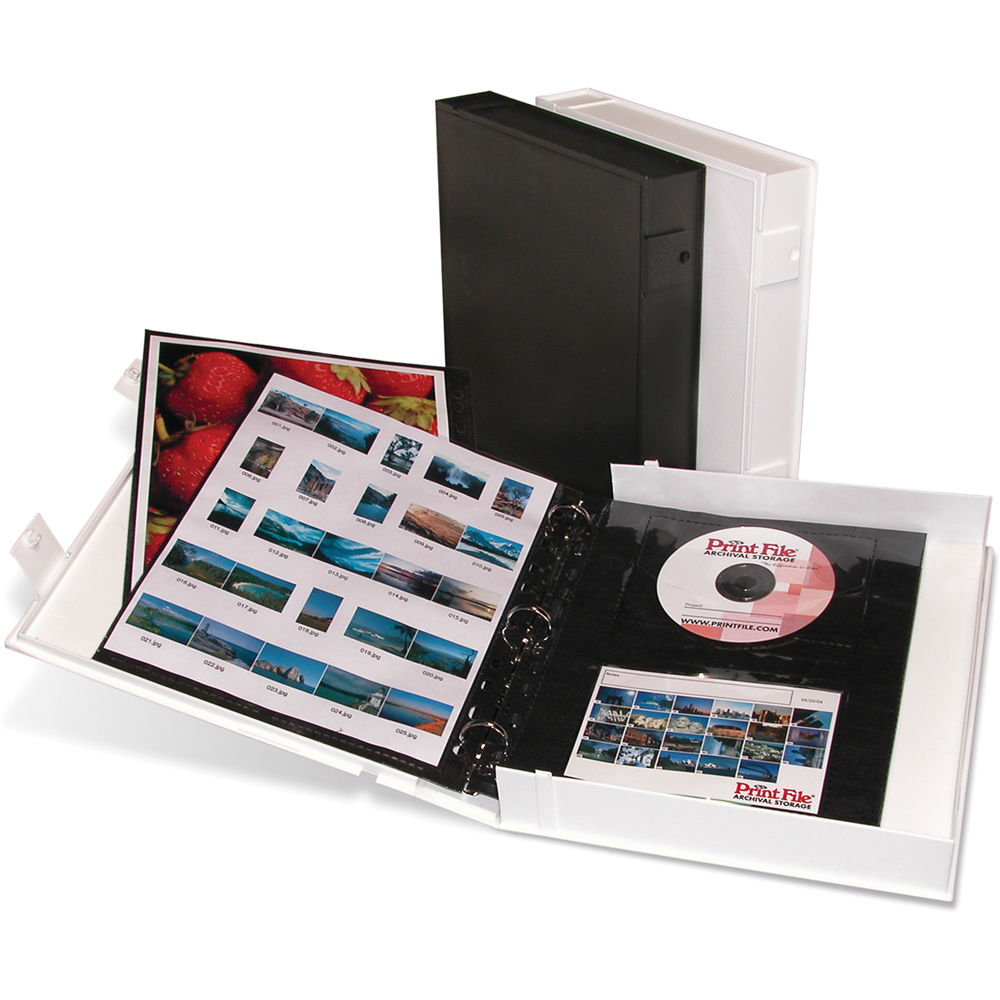 Print File Safe-T-Binder (White) VUE201 B&H Photo Video