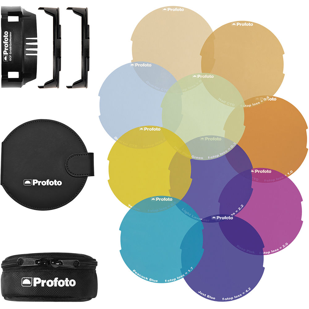 profoto color gel starter kit for b2 ocf flash head 101037 b h