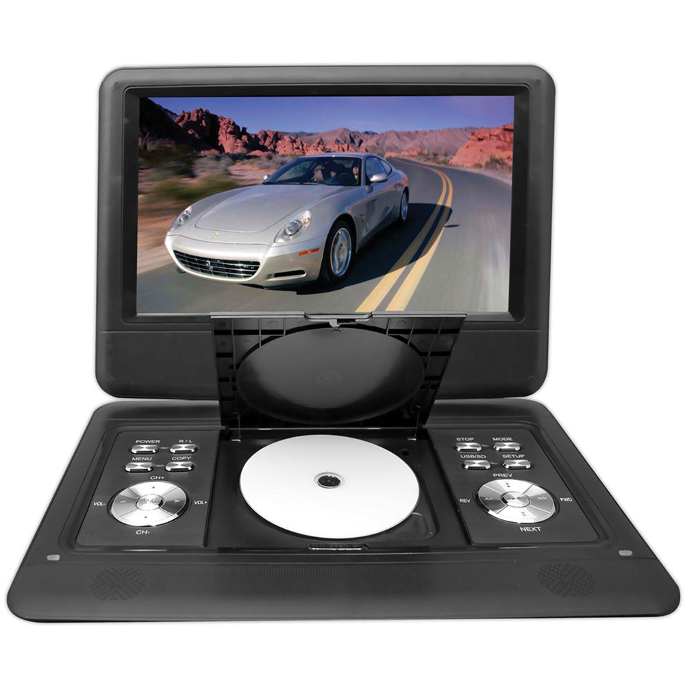 pyle home 14 portable dvd player pdh14 b h photo video. Black Bedroom Furniture Sets. Home Design Ideas