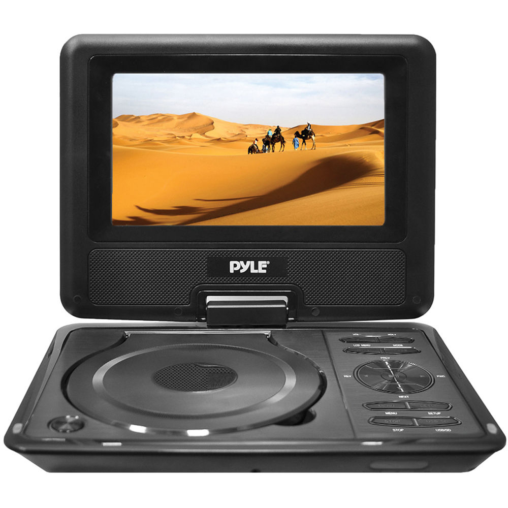 pyle home pyle home 9 portable dvd player pdh9 b h photo. Black Bedroom Furniture Sets. Home Design Ideas