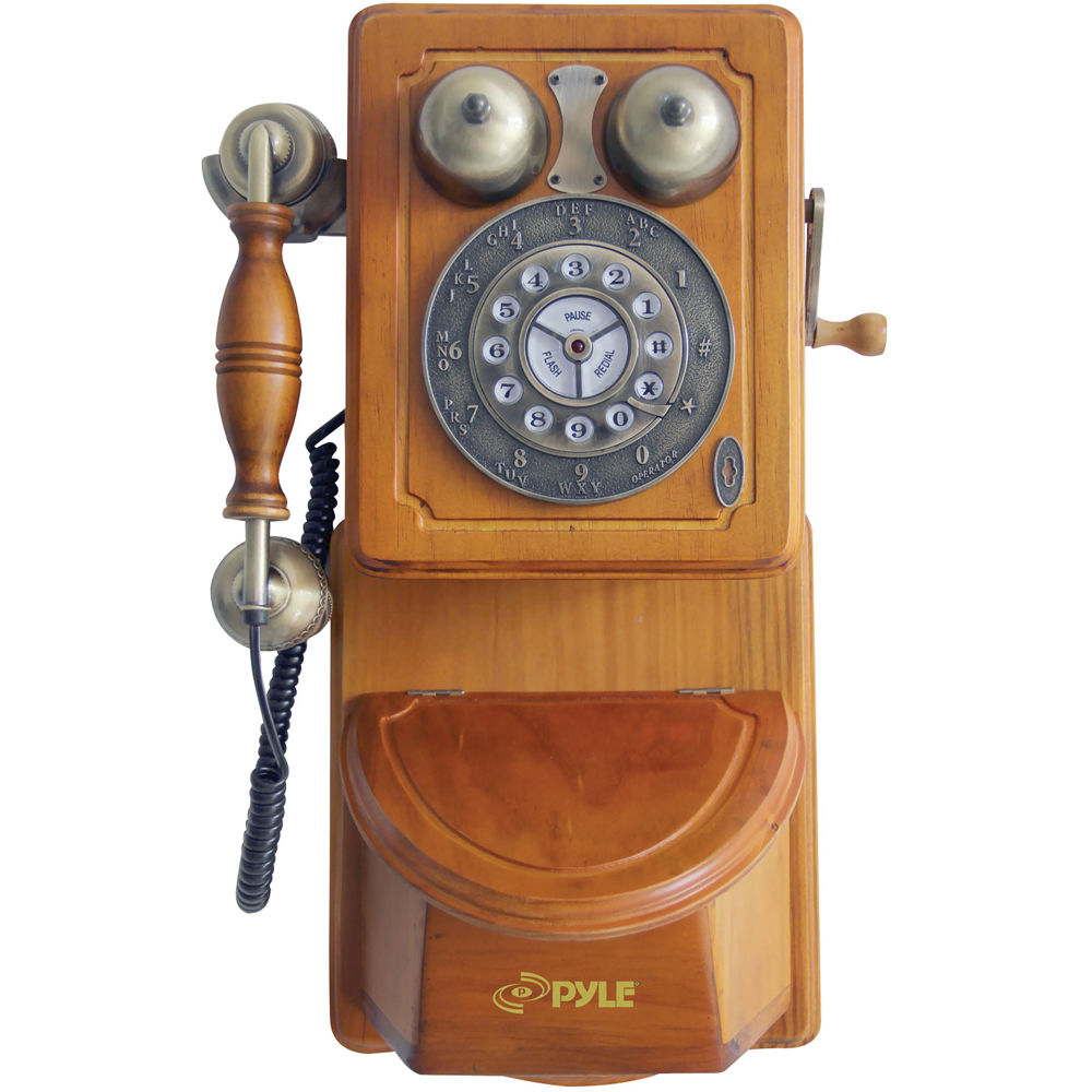 Old Fashioned Wall Phone Black