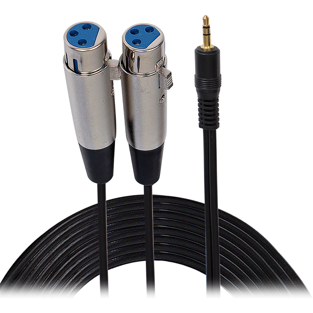 Pyle Pro 3 5mm Male To Dual Xlr Female Cable  6