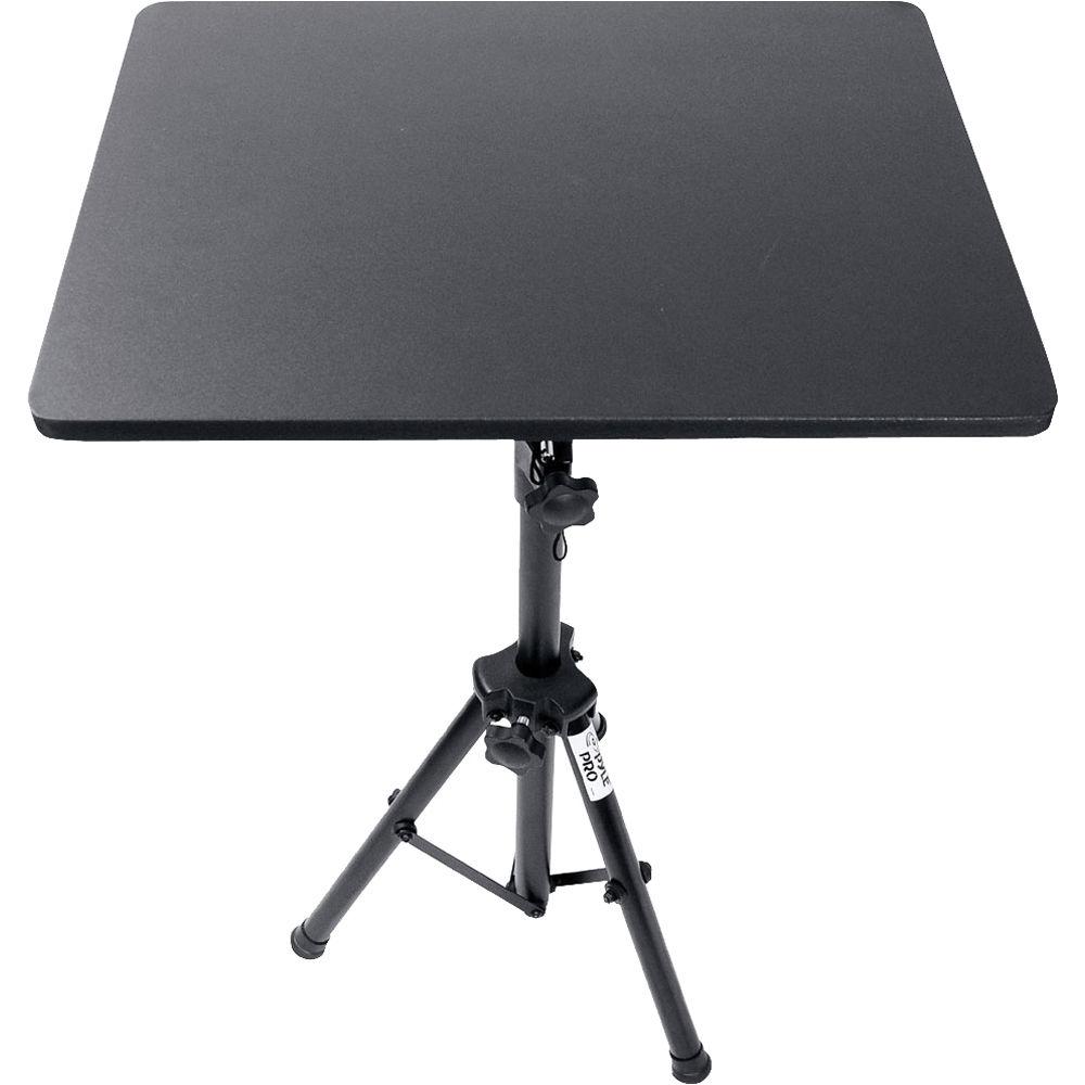 pyle pro pro dj laptop tripod adjustable stand plpts3 b h photo. Black Bedroom Furniture Sets. Home Design Ideas