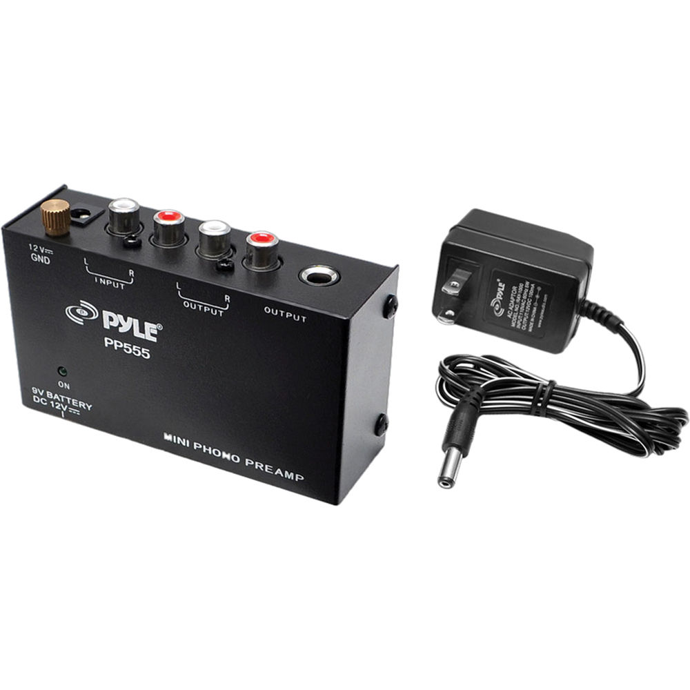 Pyle Pro Pp555 Ultra Compact Phono Turntable Pre Amplifier Magnetic Cartridge Preamplifier By Lt1028 With 9v Battery Compartment