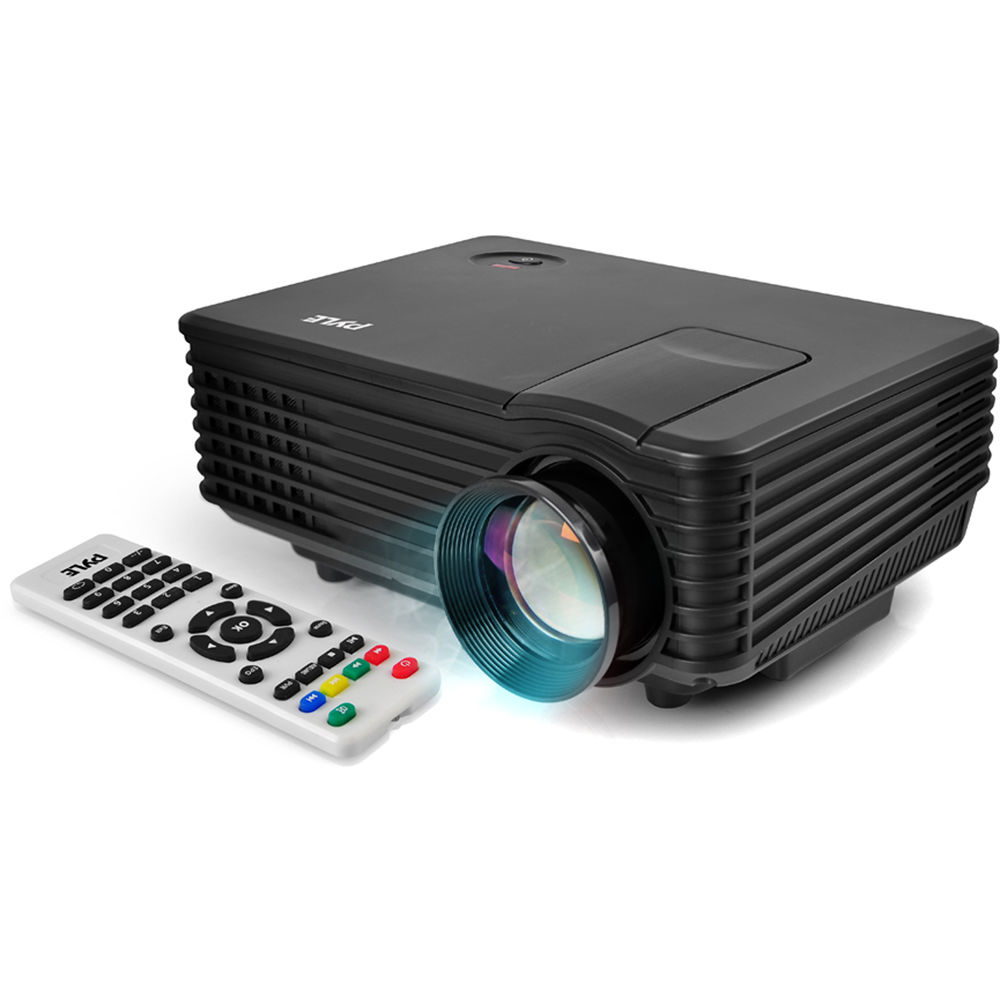 Pyle pro 800 lumen wvga compact digital multimedia prjg88 b h for Compact projector