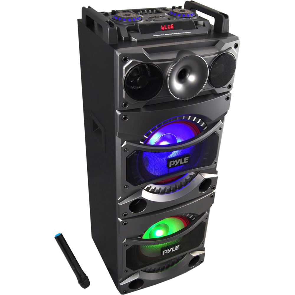 PSUFM1038BT - 2400W Bluetooth Portable Karaoke System with DJ Lights and  Top-Panel Controls