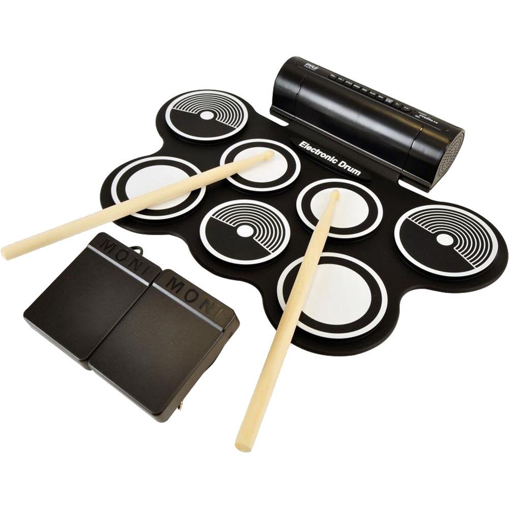 pyle pro pyptedrl12 roll up electronic drum kit ptedrl12 b h. Black Bedroom Furniture Sets. Home Design Ideas