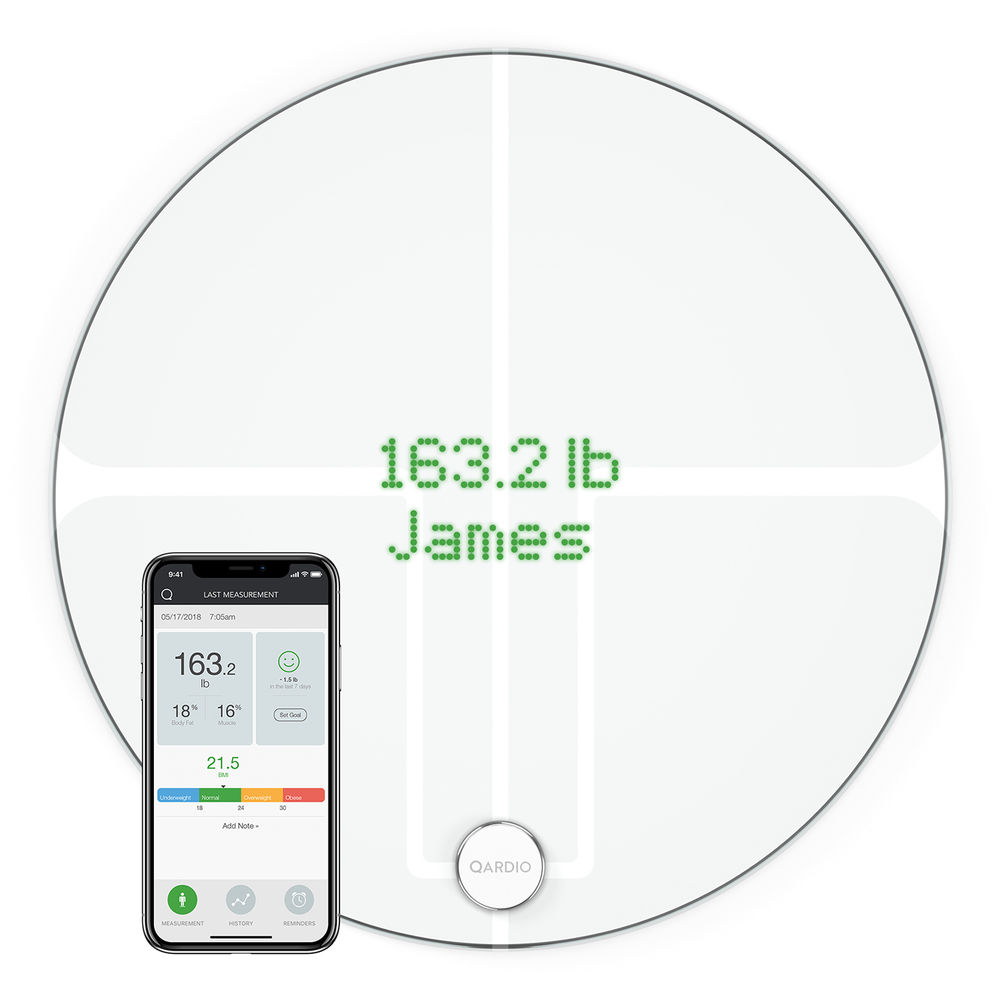 Qardio Qardiobase 2 Wireless Smart Scale Arctic White B200iaw