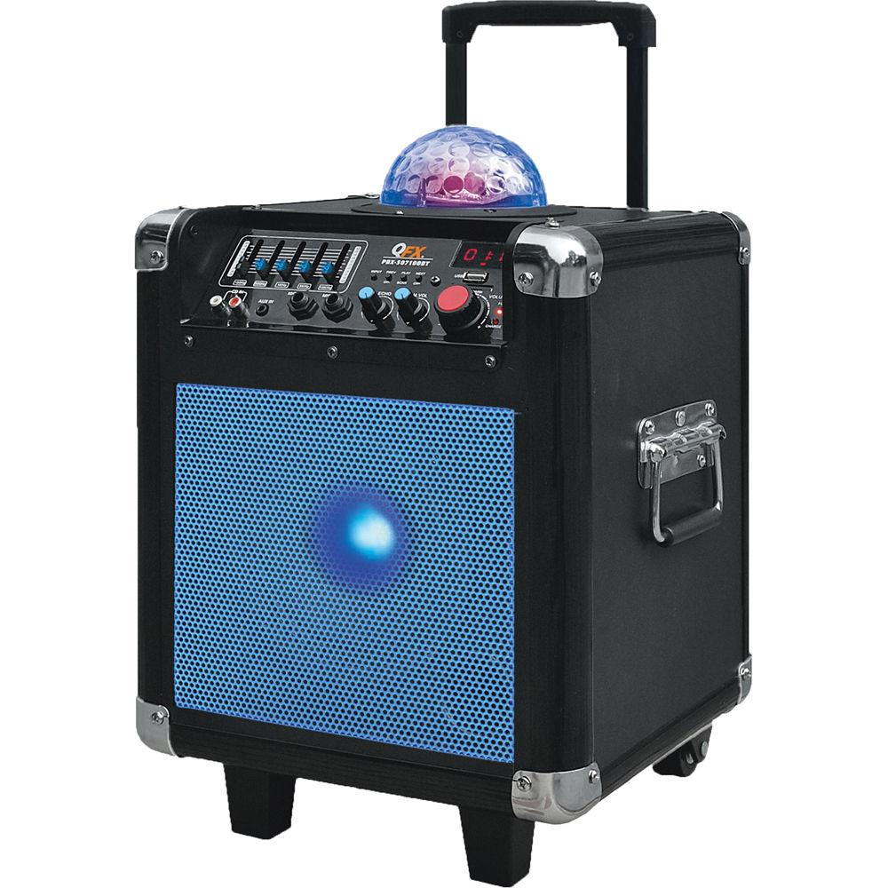 qfx portable tailgater mini pa speaker blue pbx 507101bt blu. Black Bedroom Furniture Sets. Home Design Ideas