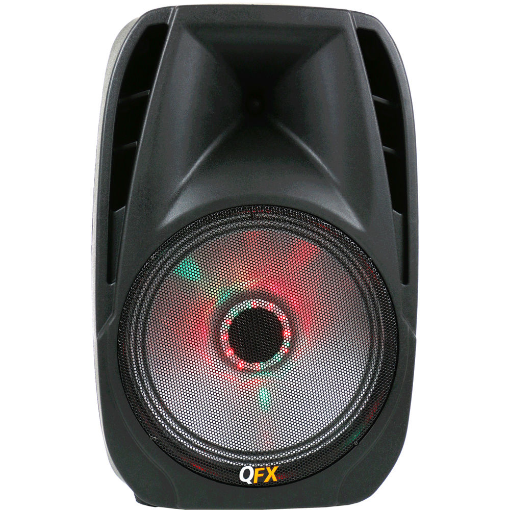 Qfx 10 Woofer Bluetooth Battery Powered Party Speaker Rgb