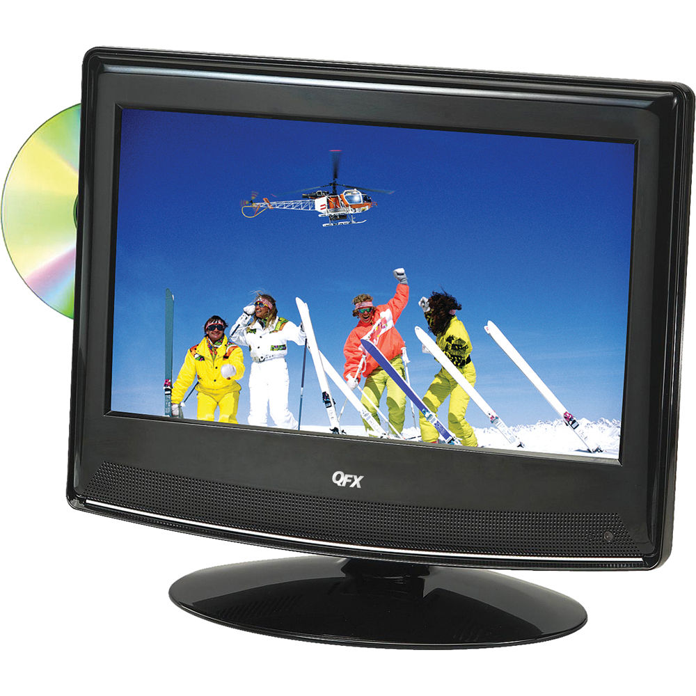 """QFX 13.3"""" LED TV With ATSC / NTSC Tuner And DVD TVLED1312D"""