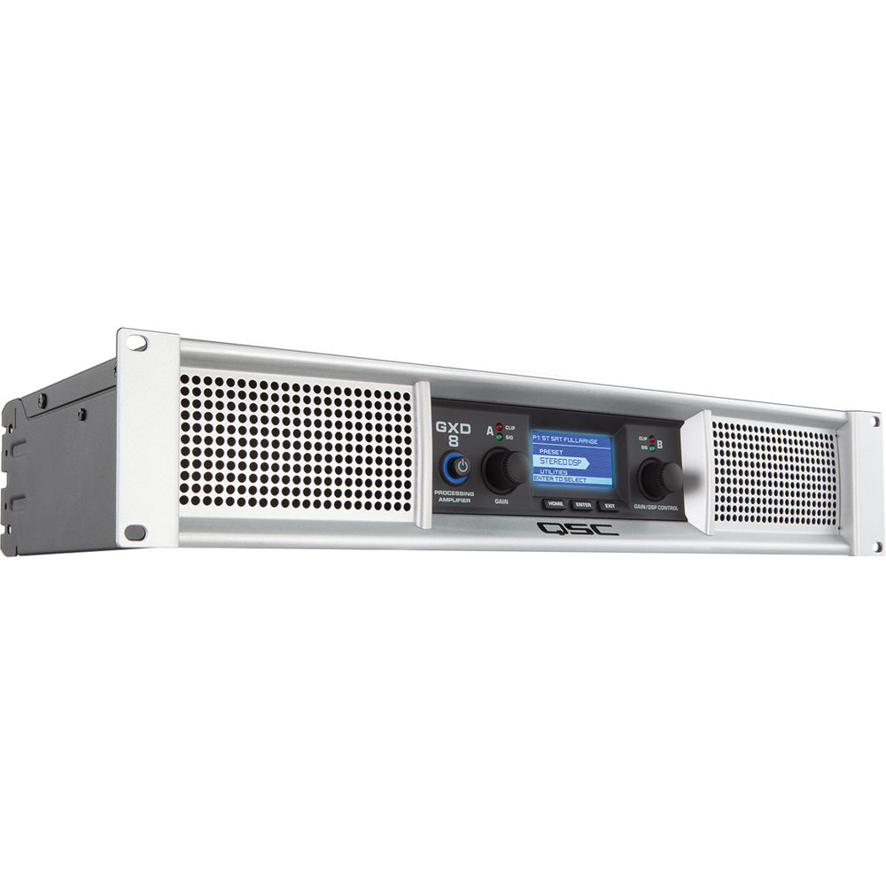 qsc gxd 8 professional 4500w power amplifier with dsp gxd 8 b h. Black Bedroom Furniture Sets. Home Design Ideas