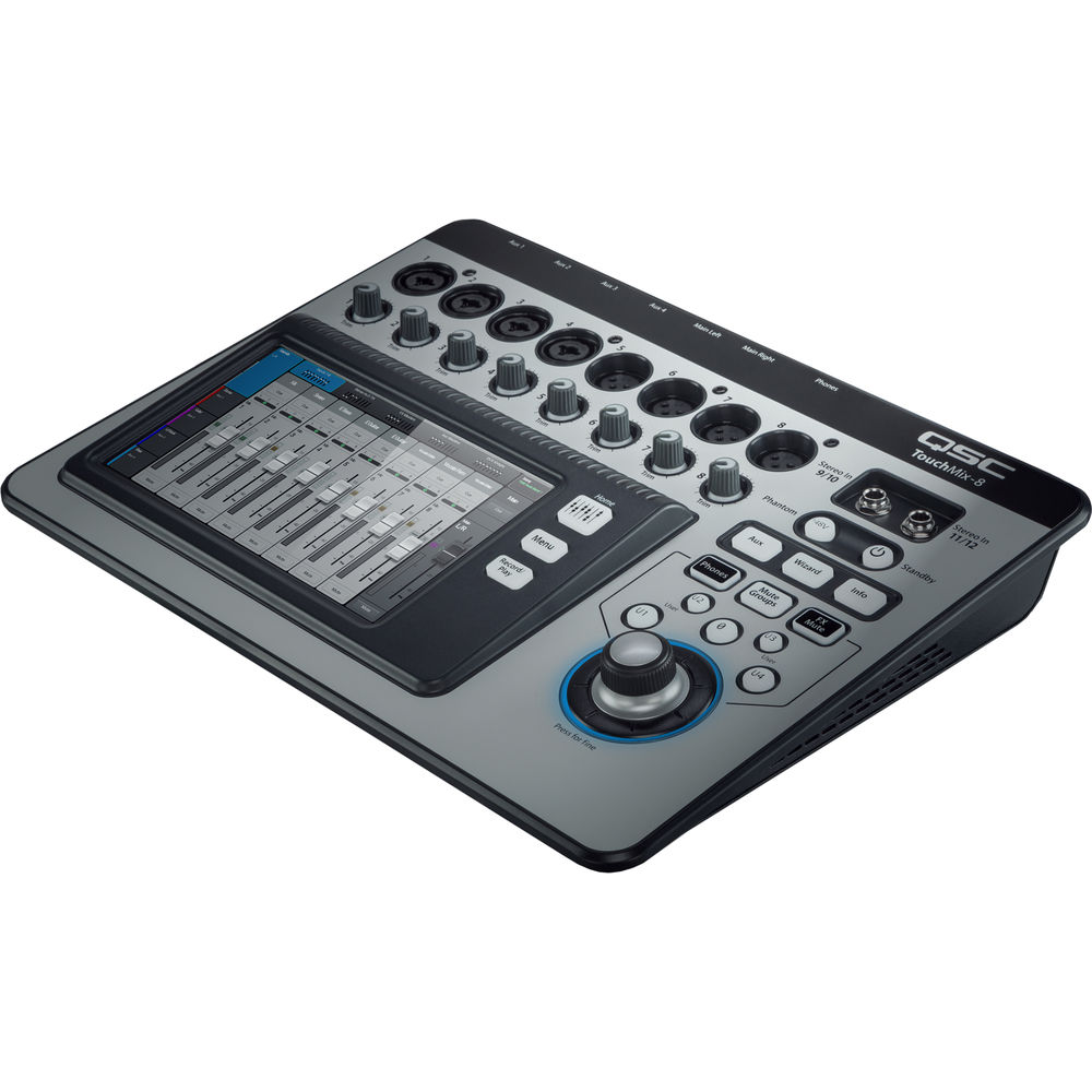qsc touchmix 8 compact digital mixer with touchscreen touchmix 8. Black Bedroom Furniture Sets. Home Design Ideas