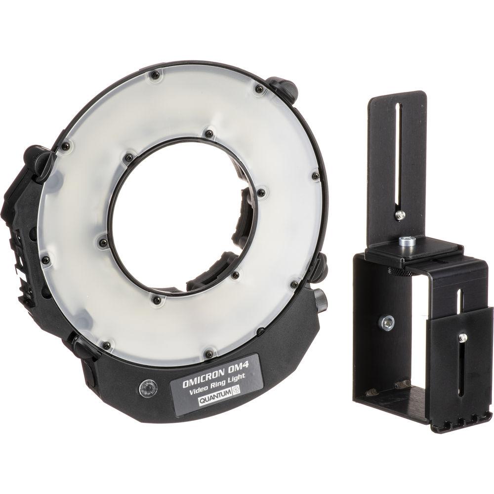 Quantum Studio Lighting: Quantum Instruments OMICRON 4 LED Video Ring Light 860450 B&H