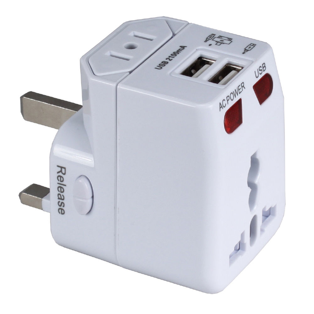 Qvs Premium World Power Travel Adapter Kit White Pa C4 B Amp H