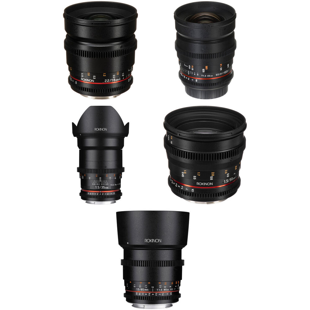 Rokinon Cine Ds 5 Lens Kit With Canon Ef Mount B Amp H Photo Video