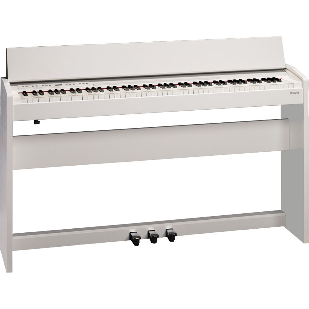 roland f 130r compact digital piano white. Black Bedroom Furniture Sets. Home Design Ideas