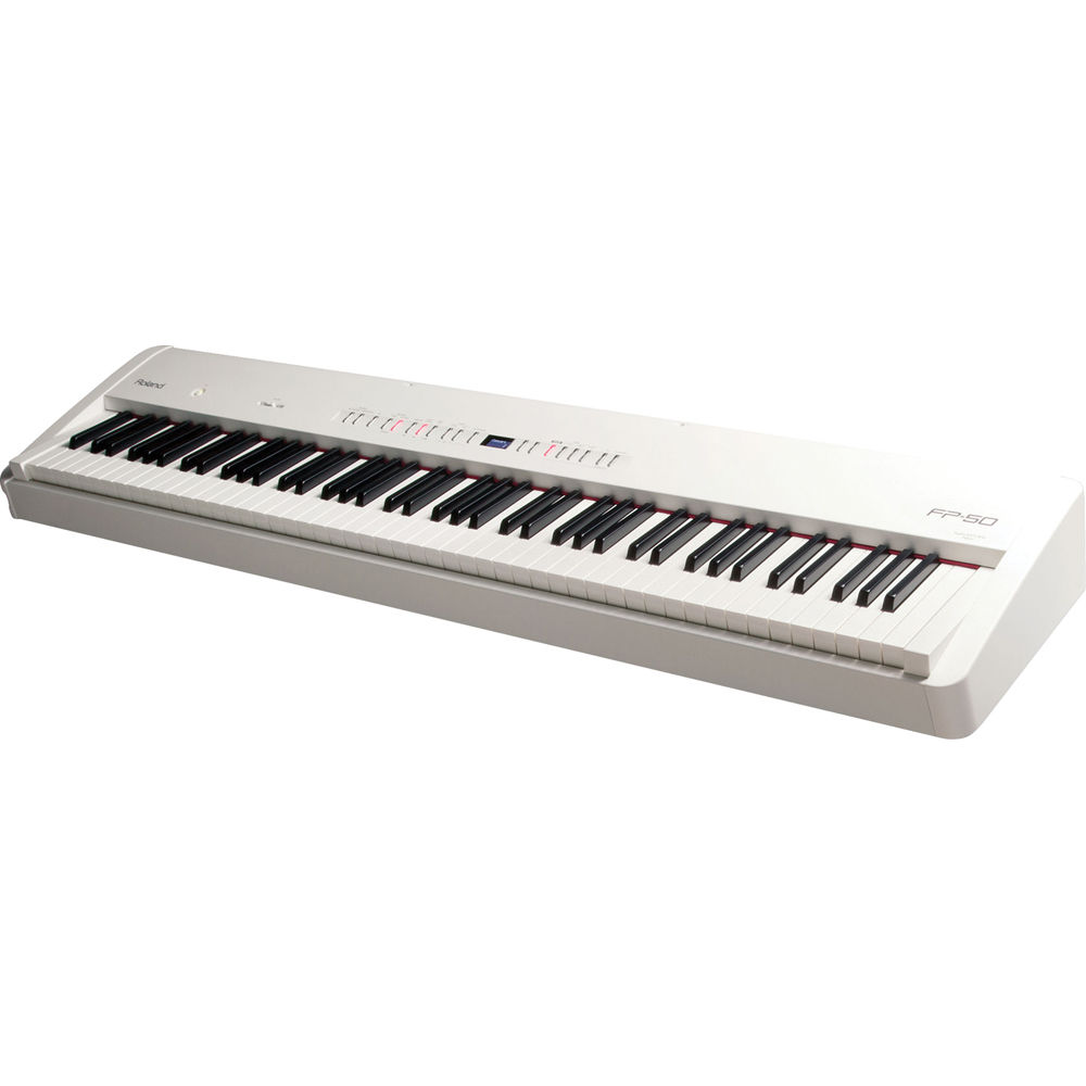 roland fp 50 digital piano white fp 50 wh b h photo video. Black Bedroom Furniture Sets. Home Design Ideas