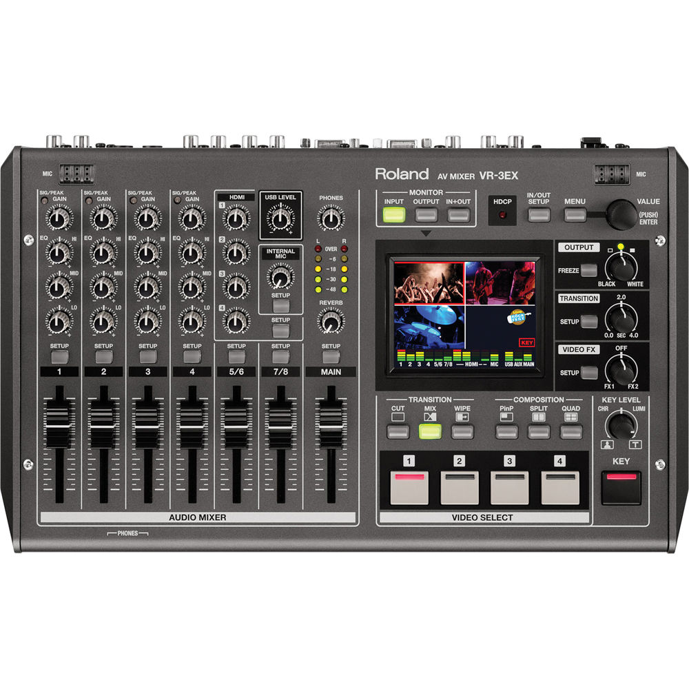 Roland Vr 3ex Sd Hd A V Mixer With Usb Streaming Vr 3ex B Amp H