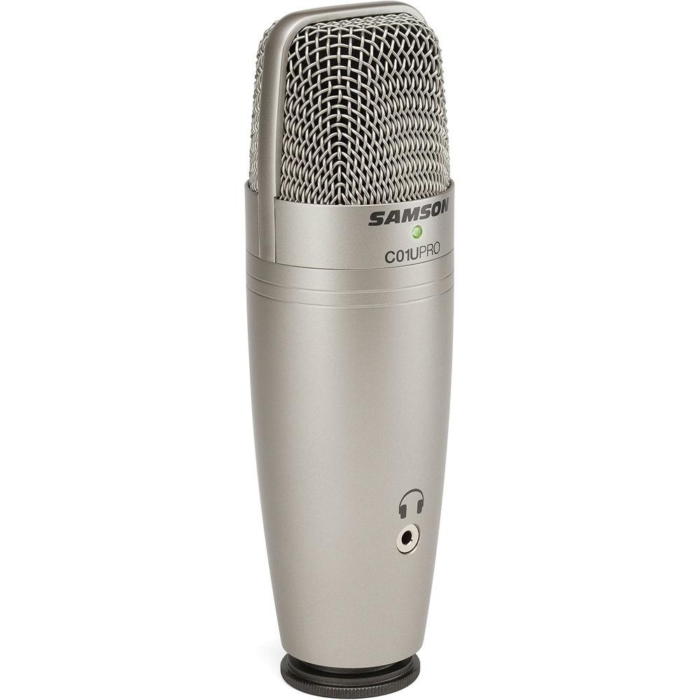 samson c01u pro usb studio condenser microphone sac01upro b h. Black Bedroom Furniture Sets. Home Design Ideas