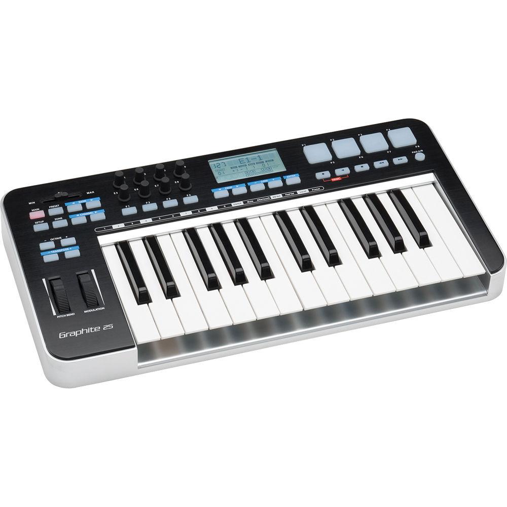 Samson Graphite 25 - USB MIDI Keyboard Controller SAKGR25 B&H