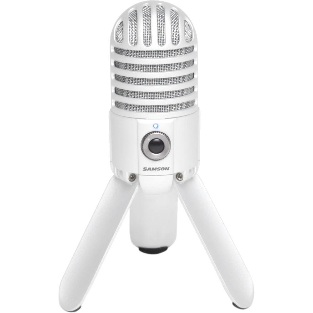 samson meteor mic usb studio condenser microphone white samtrw. Black Bedroom Furniture Sets. Home Design Ideas